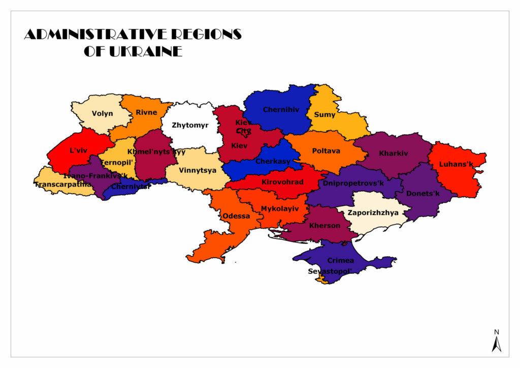 Oblasts/Regions of Ukraine