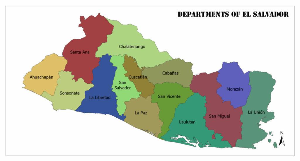 Departments of El Salvador 1