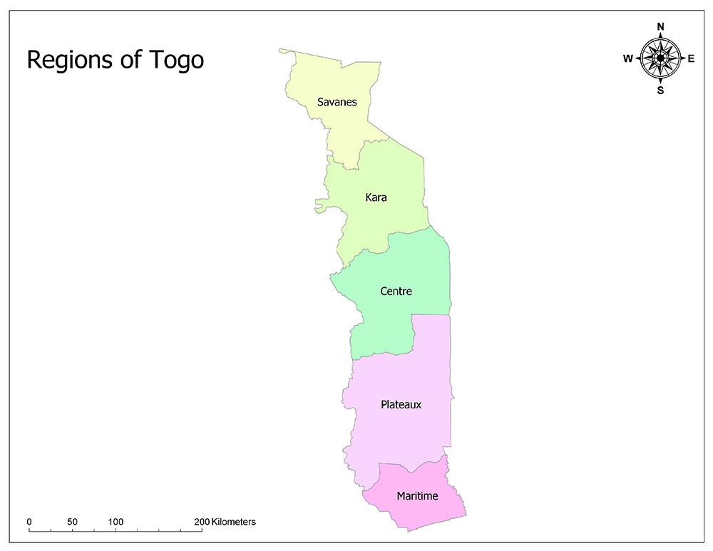 Regions of Togo 1