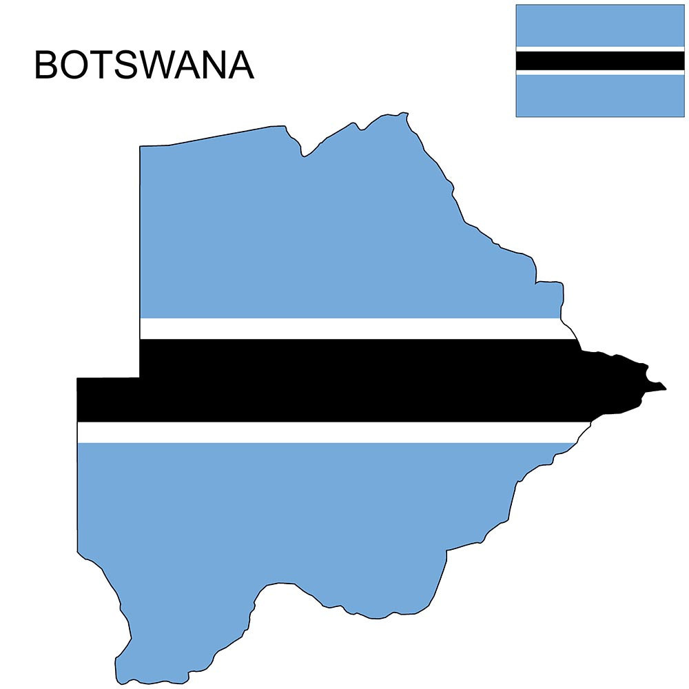 Botswana Flag Map and Meaning 1