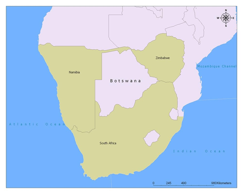 Botswana Flag Map and Meaning 2