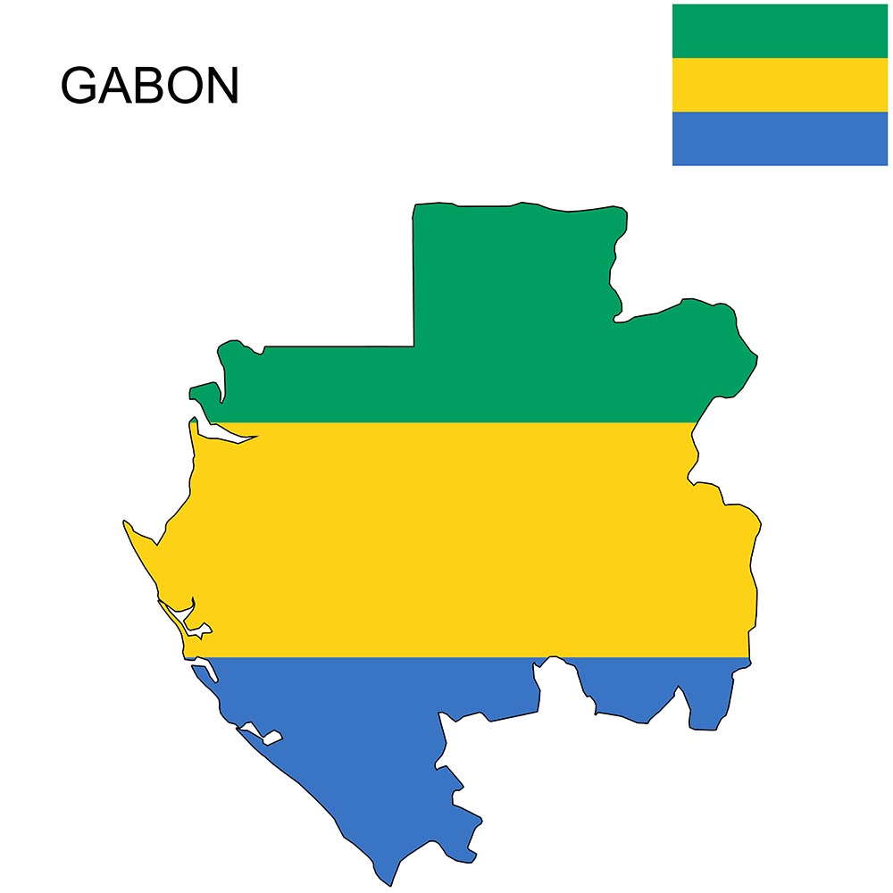 Gabon Flag Map and Meaning 1