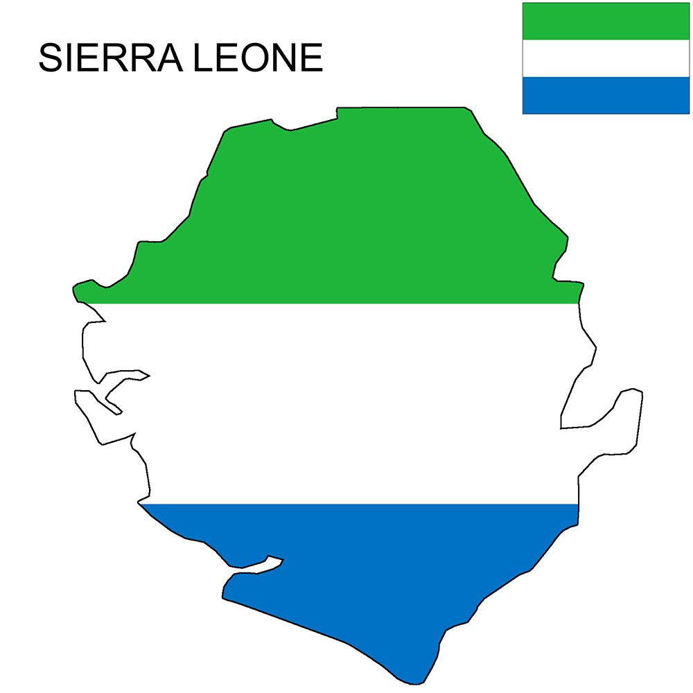 Sierra Leone Flag Map and Meaning 1