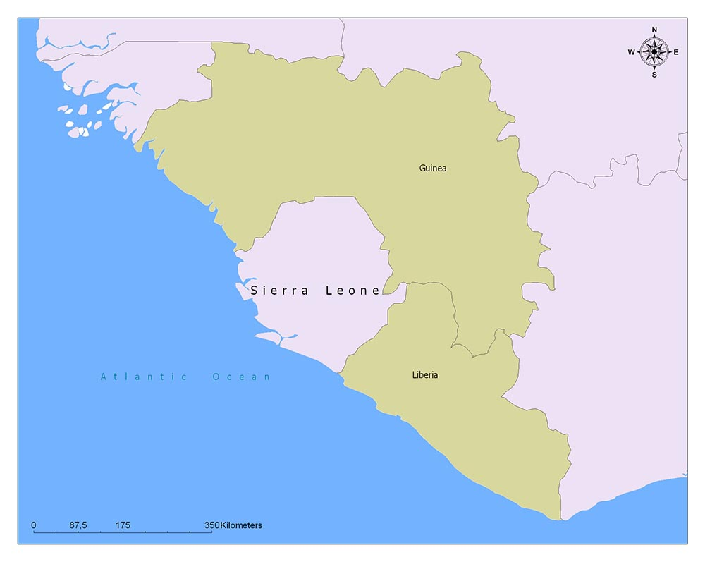 Sierra Leone Flag Map and Meaning 2