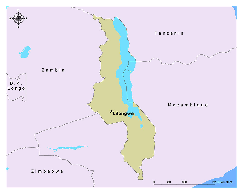 What is the Capital of Malawi? 1