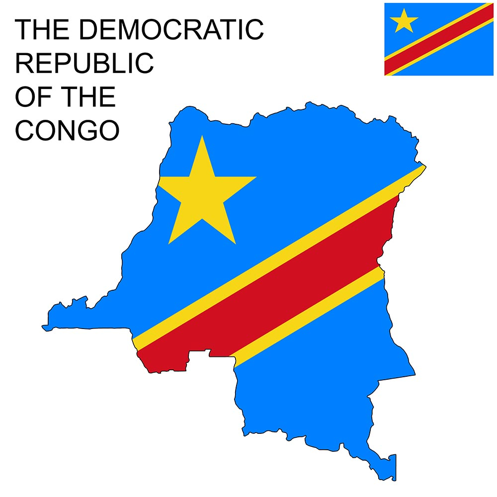 The Democratic Republic of Congo Flag Map and Meaning 1