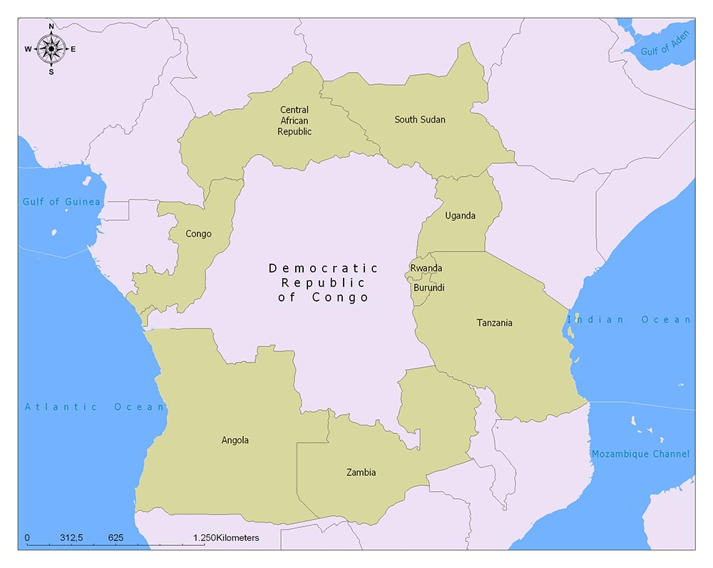 The Democratic Republic of Congo Flag Map and Meaning 2