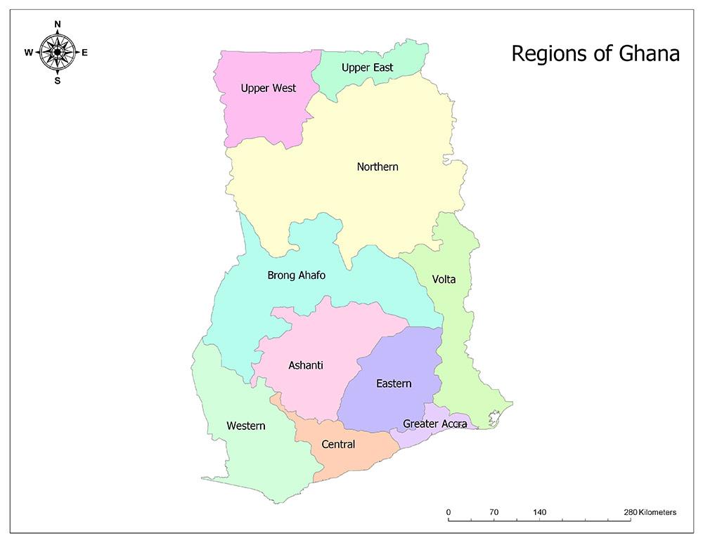 Regions of Ghana 1