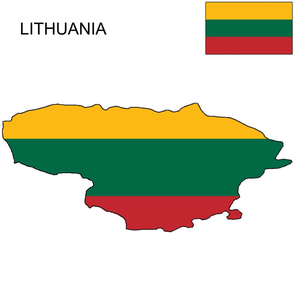Lithuania Flag Map and Meaning 1