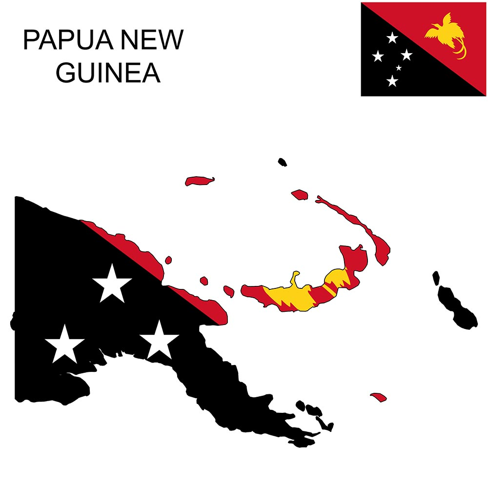 Papua New Guinea Flag Map and Meaning 1