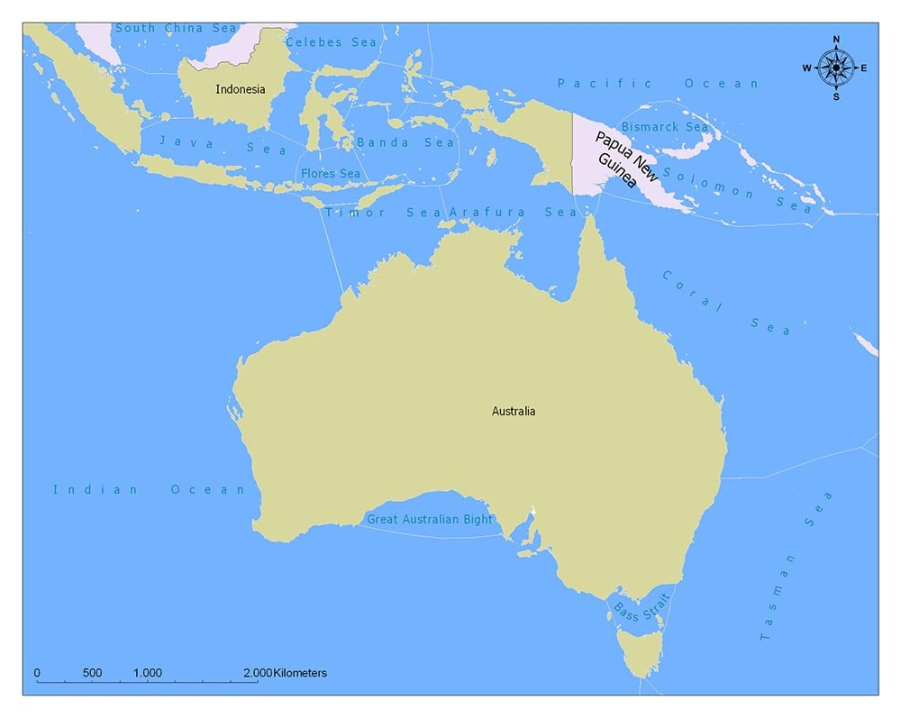 Papua New Guinea Flag Map and Meaning 2