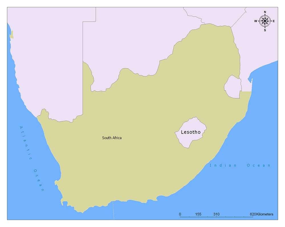 Neighboring Countries of Lesotho