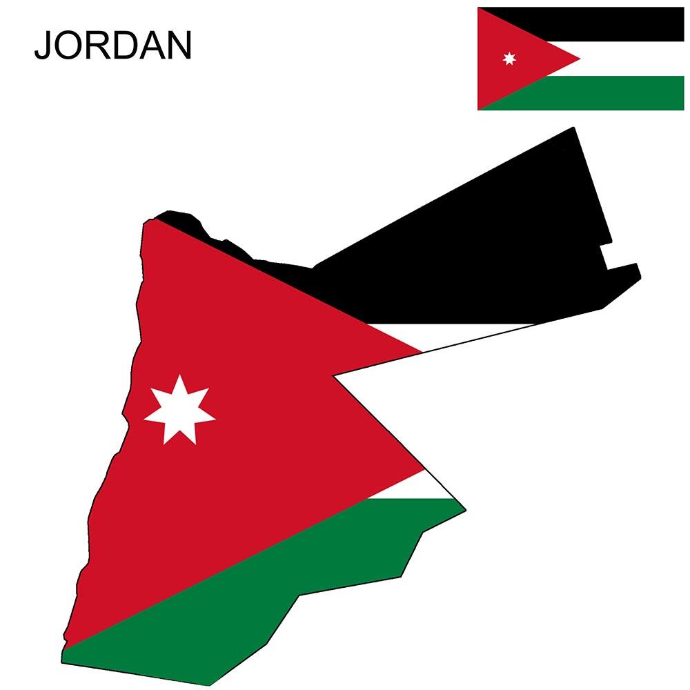 Jordan Flag Map