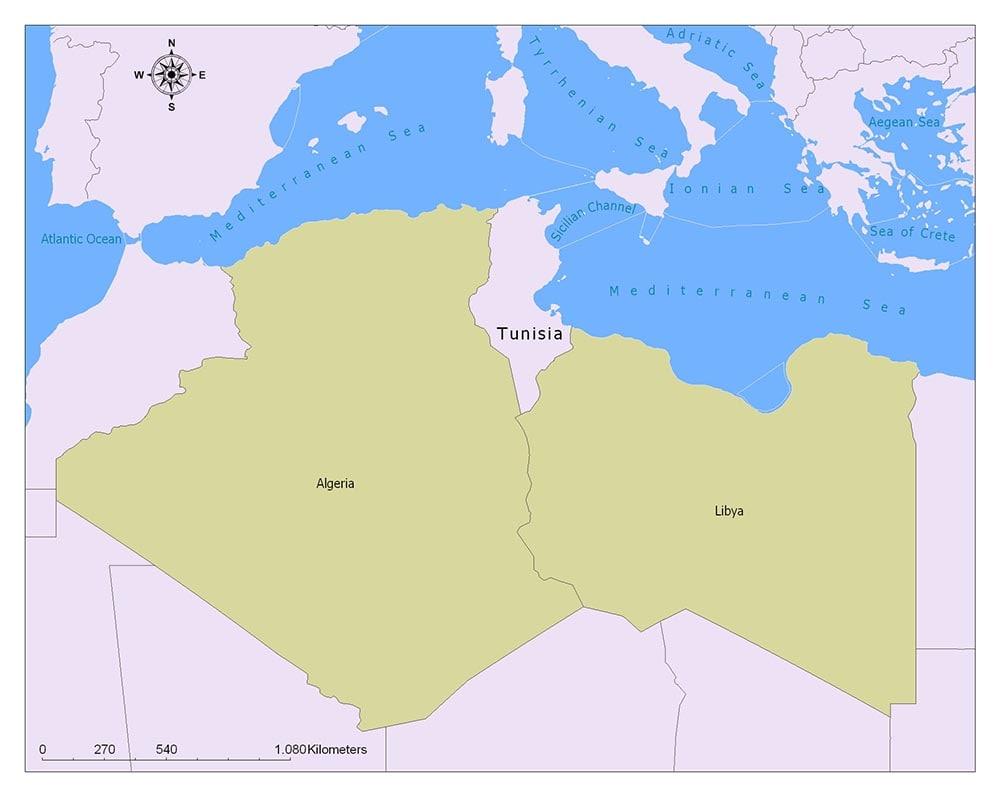 Neighboring Countries of Tunisia