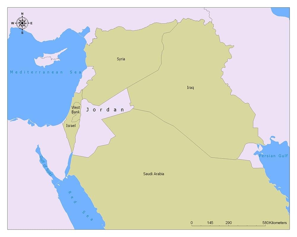 Neighboring Countries of Jordan