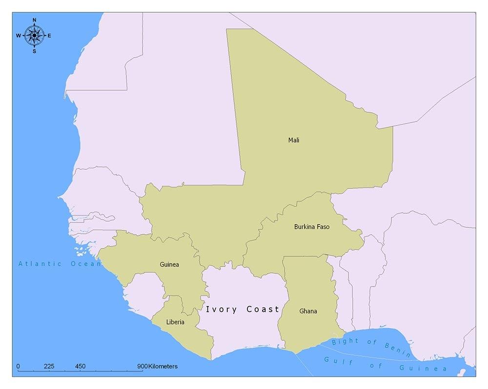 Neighboring Countries of Ivory Coast