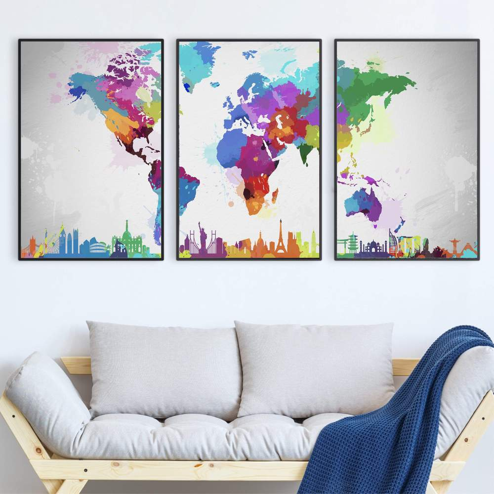 Best World Map Canvas (5 Top in 2021) 4