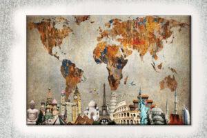 best canvas world map
