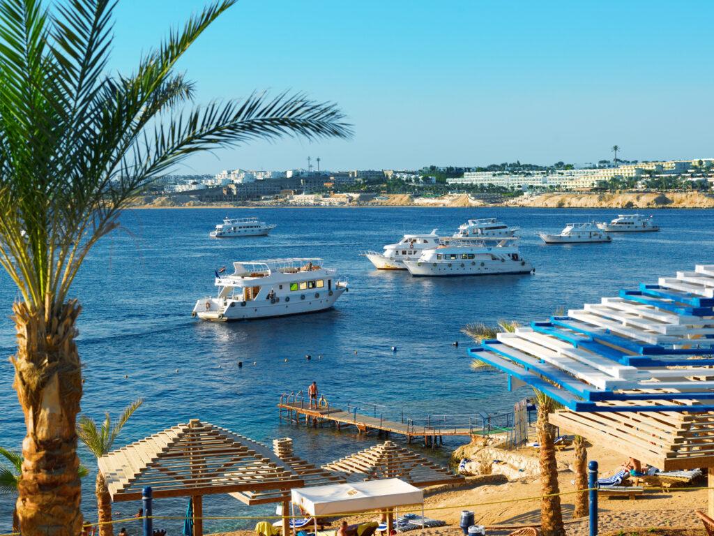 Beach on Red sea, Sharm El Sheikh, Egypt