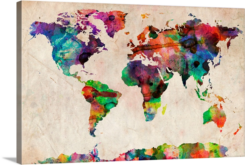 Best World Map Canvas (5 Top in 2021) 2