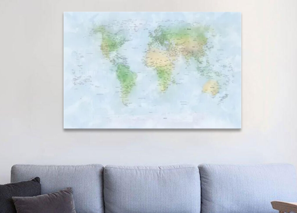 Best World Map Canvas (5 Top in 2021) 5