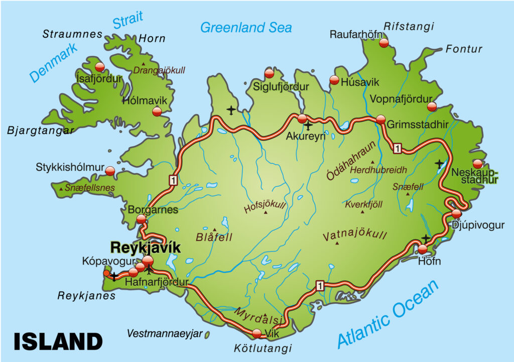 Iceland / Maps, Geography, Facts 3