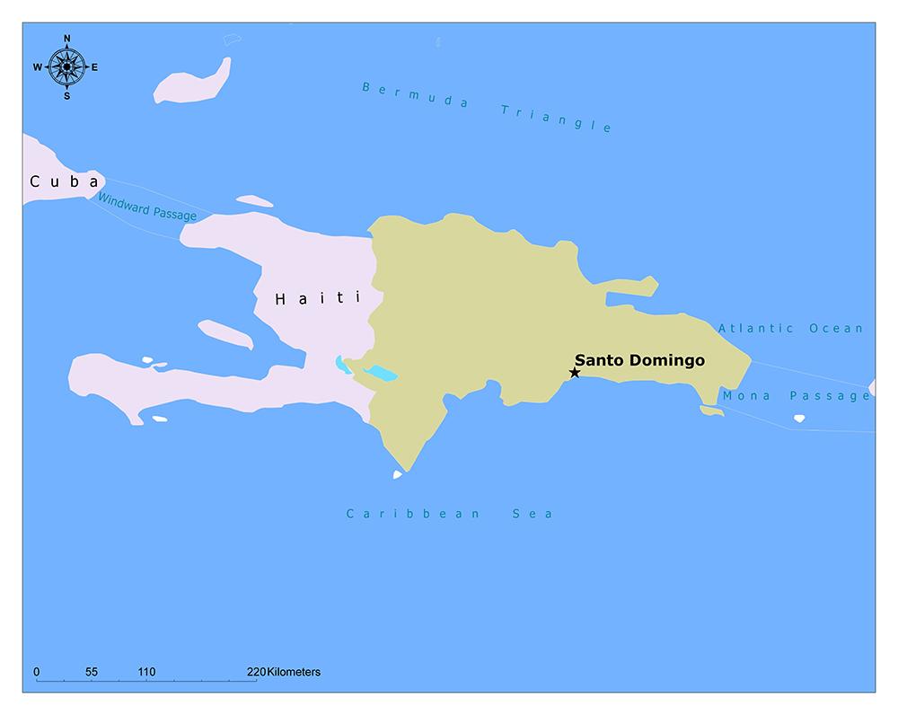 Where is Santo Domingo?