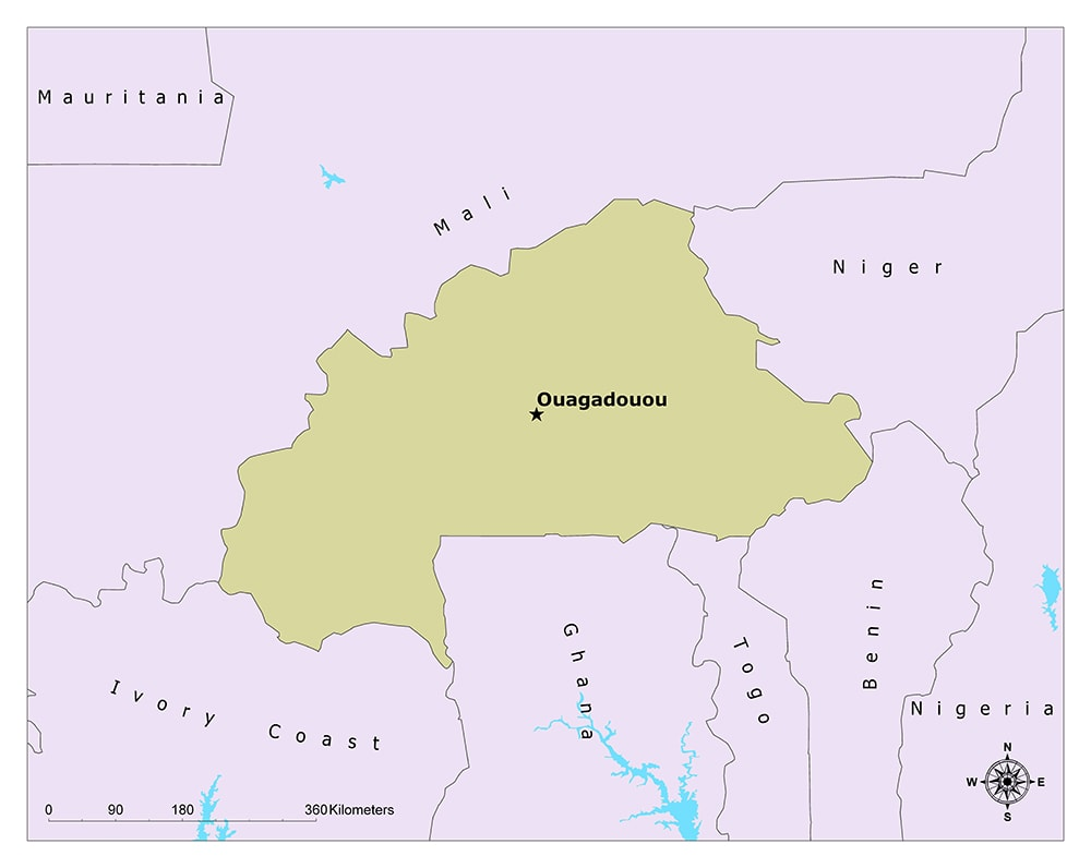 What is the Capital of Burkina Faso? 1