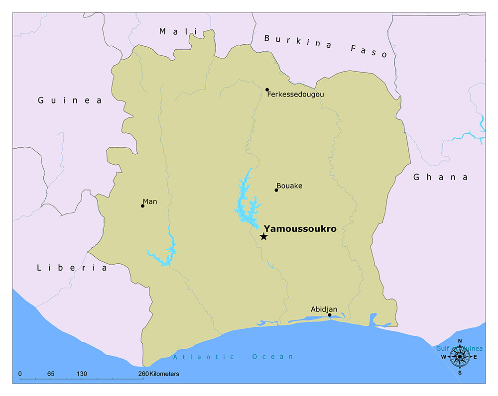 Where is Yamoussoukro?