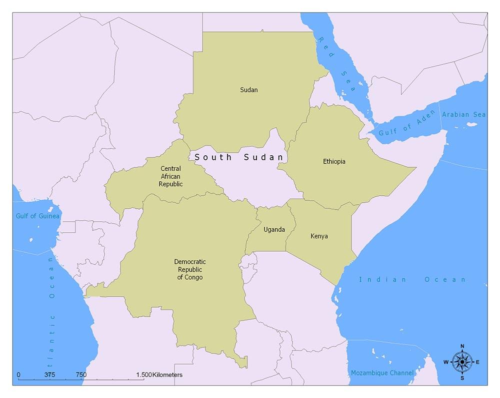 Neighboring Countries of South Sudan