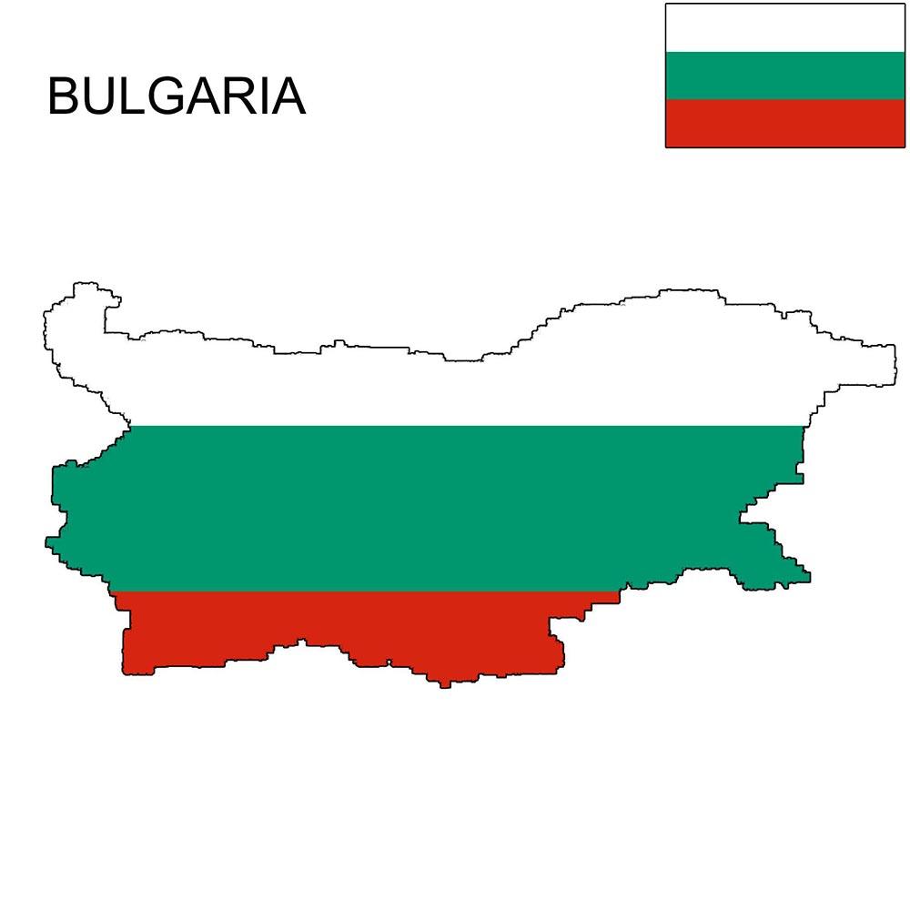 Bulgaria Flag Map