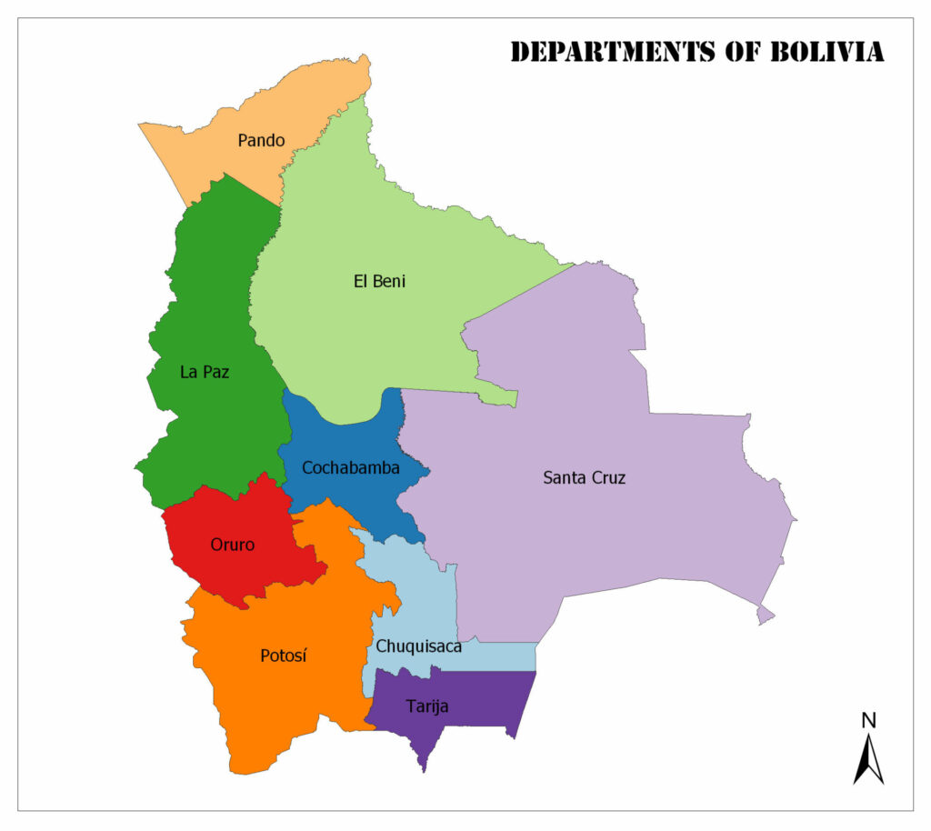 Departments of Bolivia