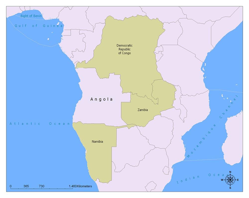 Neighboring Countries of Angola