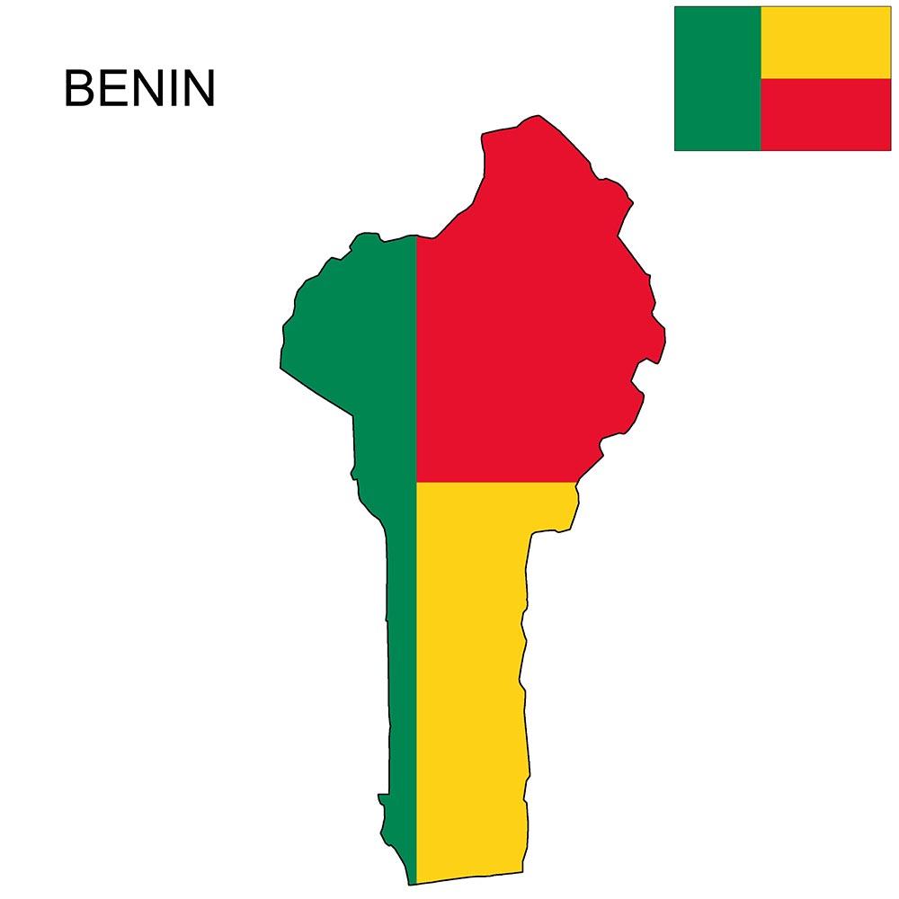 Benin Flag Map