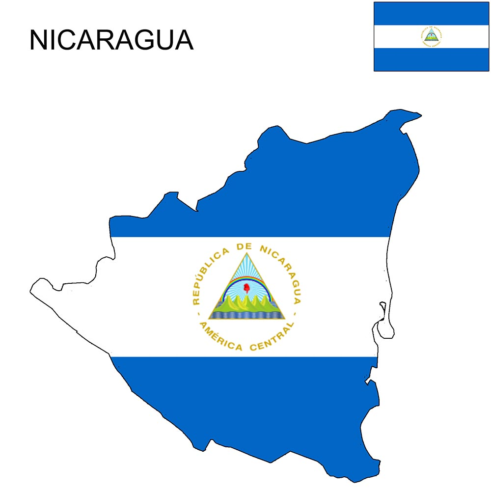 Nicaragua Flag Map and Meaning 1