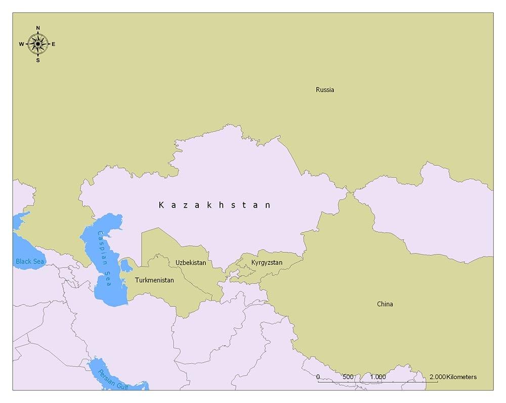 Neighboring Countries of Kazakhstan