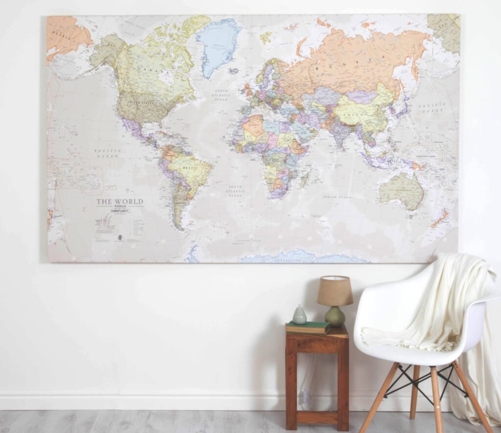 Best World Map Canvas (5 Top in 2021) 3