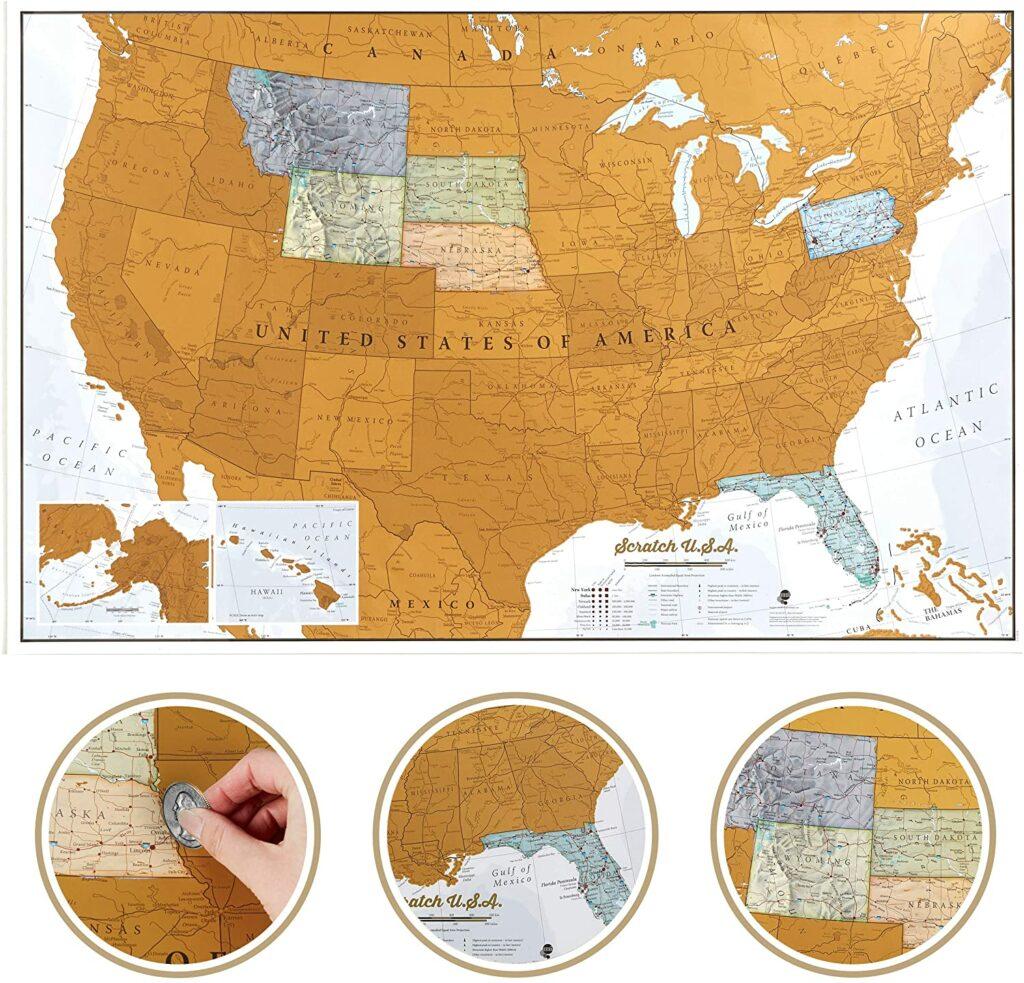 Best USA Scratch Off Maps in 2021 1