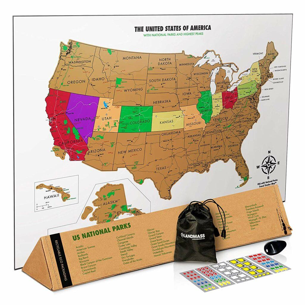 Best USA Scratch Off Maps in 2021 5