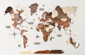 Best Wooden World Maps (Bestselling 3D Wood Wall Art in 2021) 3