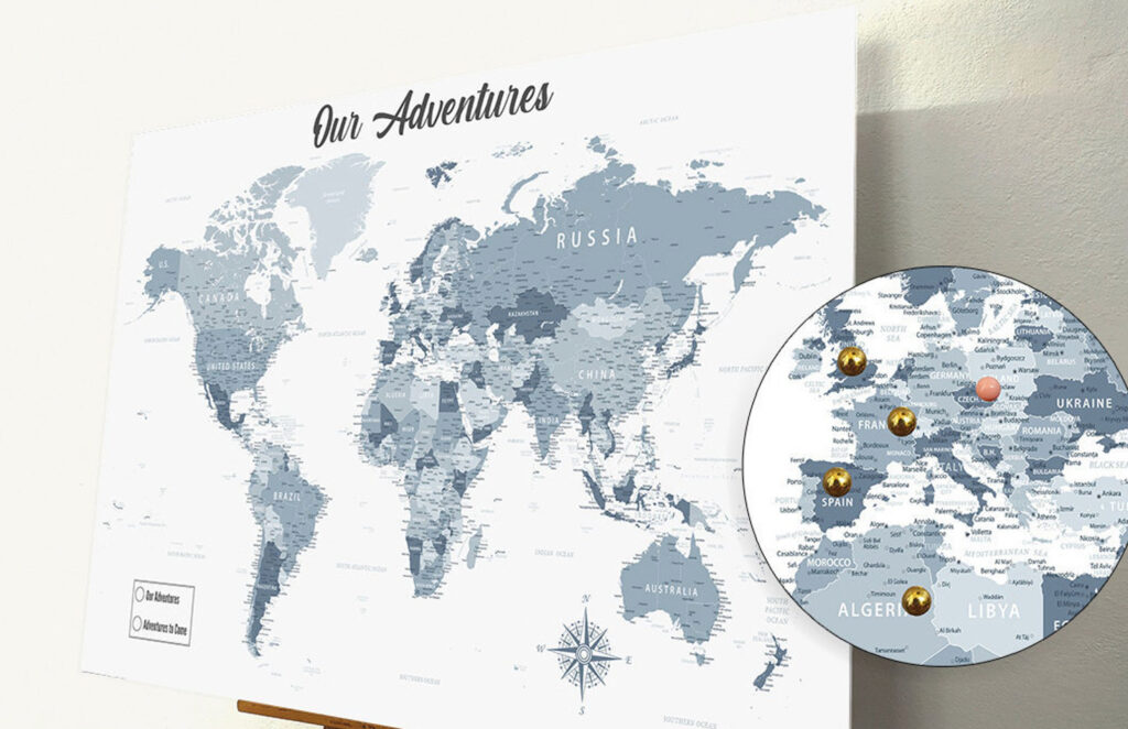 Large pin map from Pandaboards