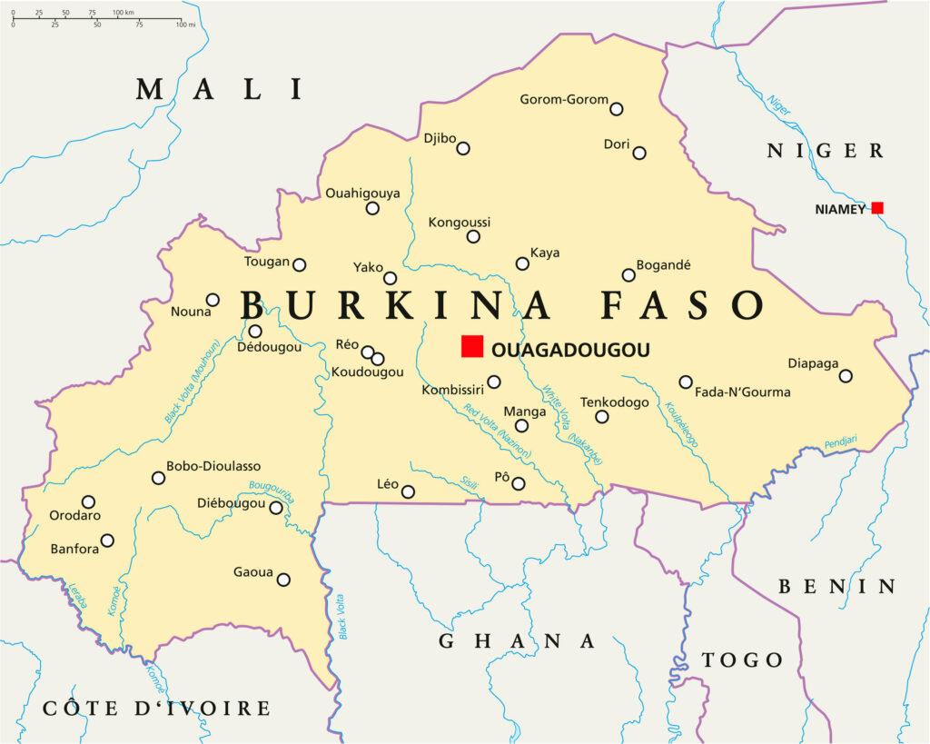 Political Map of Burkina Faso
