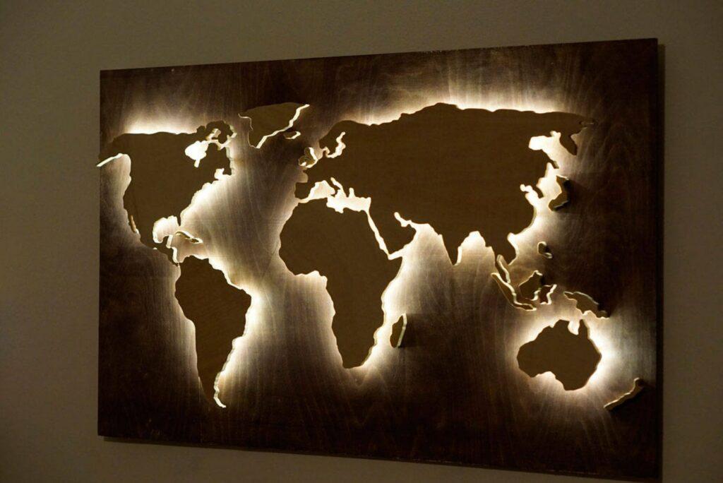 Best Wooden World Maps (Bestselling 3D Wood Wall Art in 2021) 4