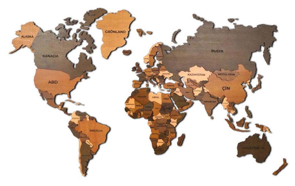 Best Wooden World Maps (Bestselling 3D Wood Wall Art in 2021) 2