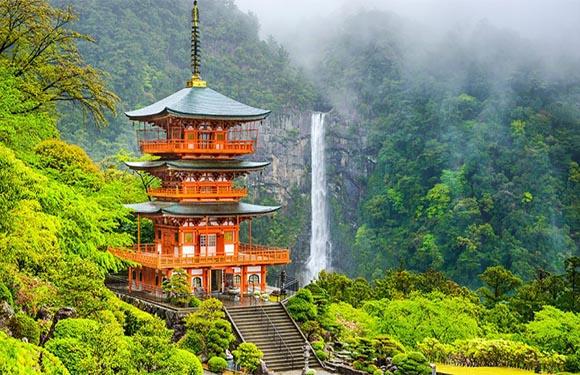 Seigantoji Pagoda and Nachi No Taki Waterfall