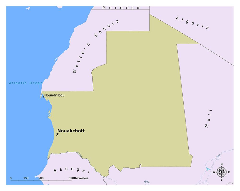 Map of Nouakchott