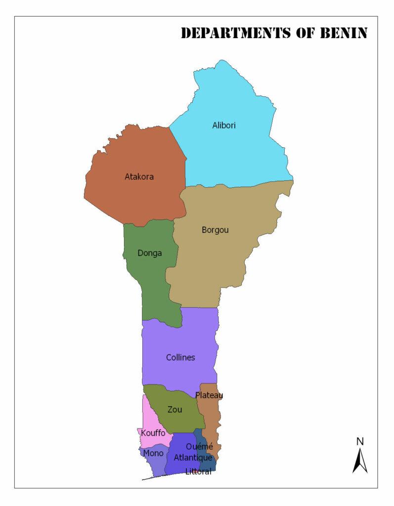Departments of Benin