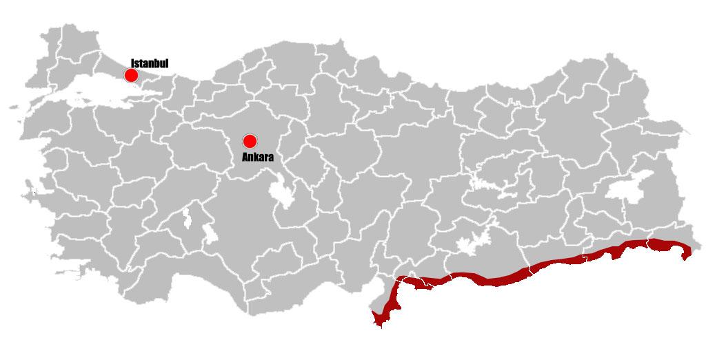 Turkey Safety Map