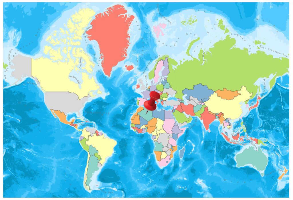 Algeria on the world map