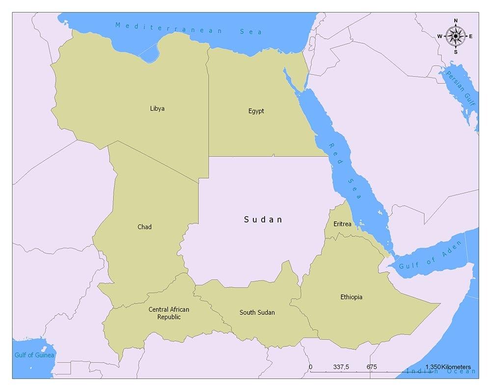 Neighboring Countries of Sudan